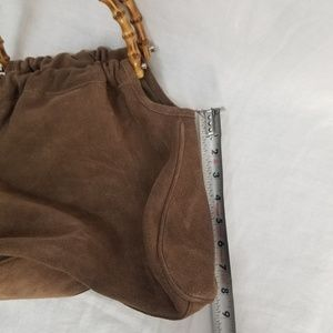 Talbots Bags - Suede Leather Slouchy-Hobo, Bamboo Handle Bag